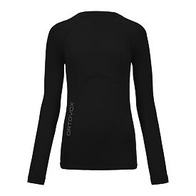 Tricou funcțional merino femei 230 Competition long sleeve ORTOVOX Black Raven